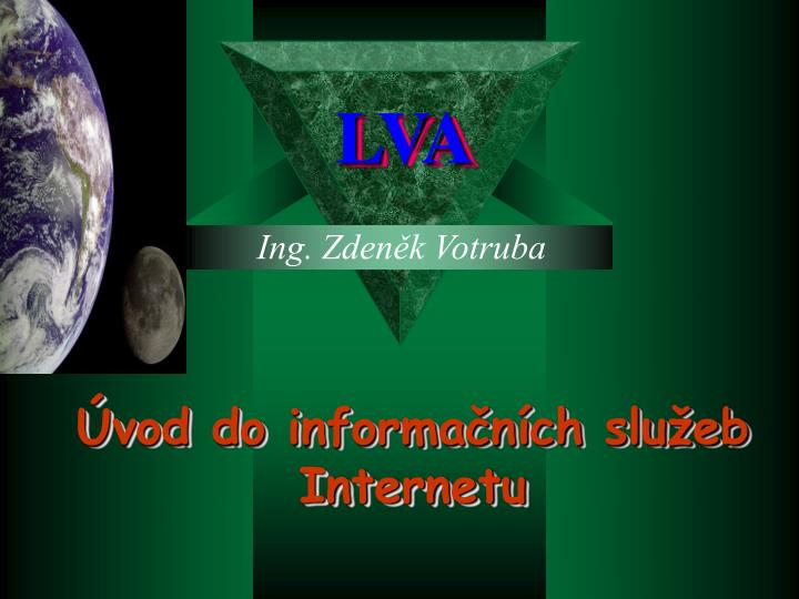 Vod do informa n ch slu eb internetu