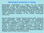 hydrological institutions in turkey