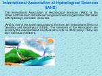 international association of hydrological sciences iahs
