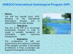 unesco international hydrological program ihp