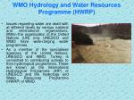 wmo hydrology and water resources programme hwrp