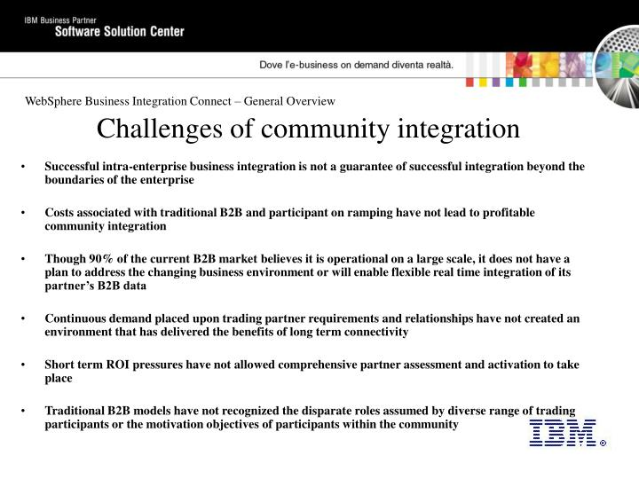 Challenges of community integration