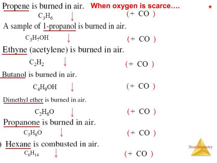 When oxygen is scarce….