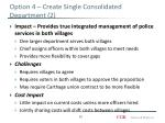 option 4 create single consolidated department 2