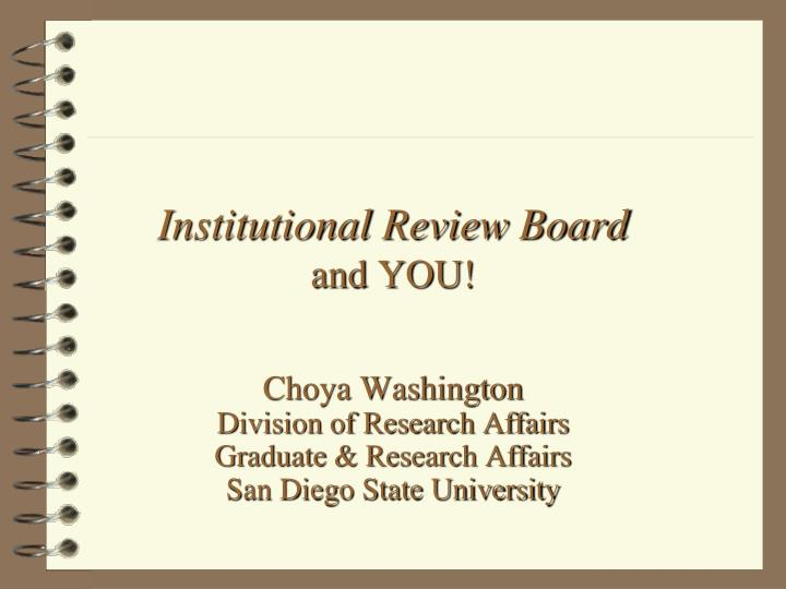 Institutional review board and you