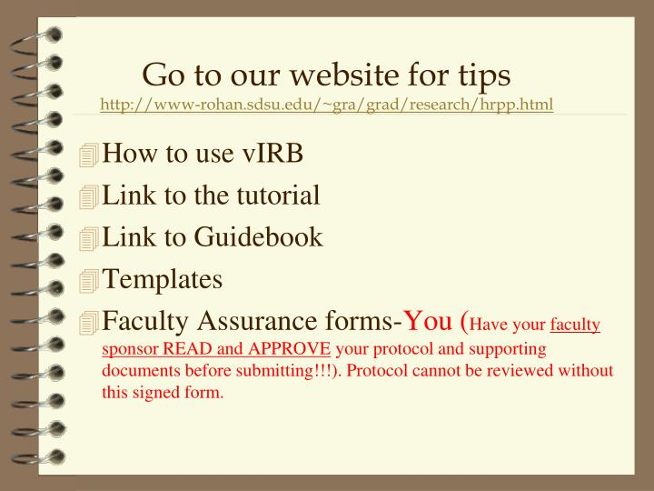 How to use vIRB
