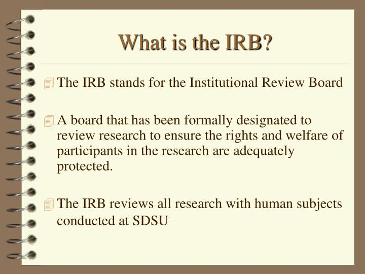 What is the irb
