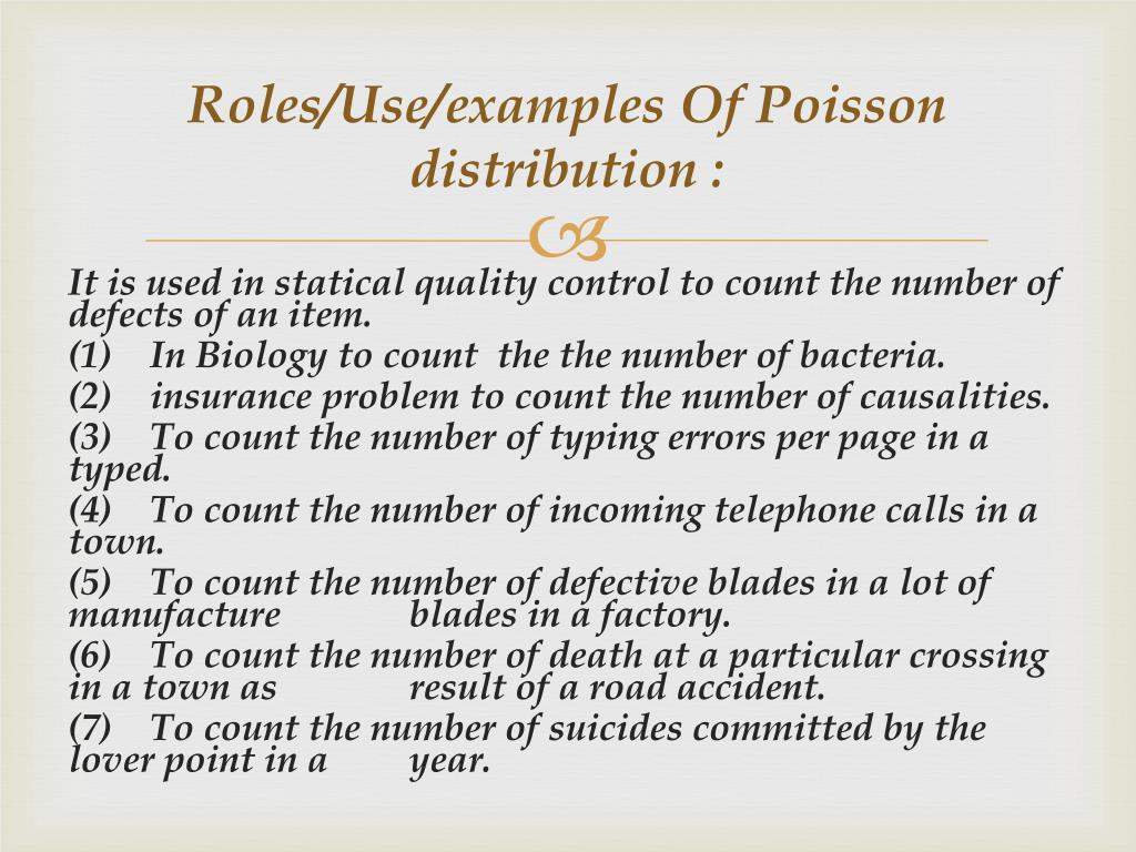 PPT - POISSON DISTRIBUTION PowerPoint Presentation - ID:3623795