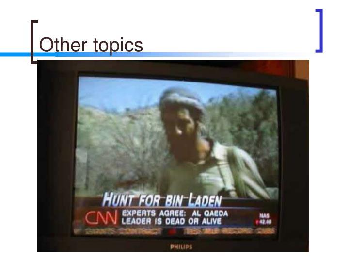 Other topics