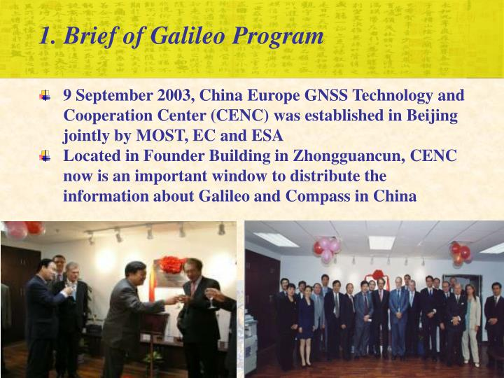 1. Brief of Galileo Program