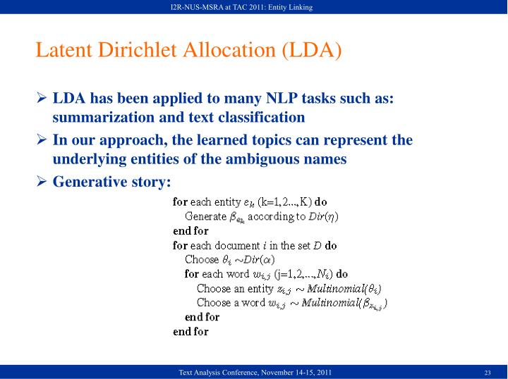 I2R-NUS-MSRA at TAC 2011: Entity Linking