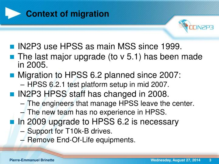 Context of migration