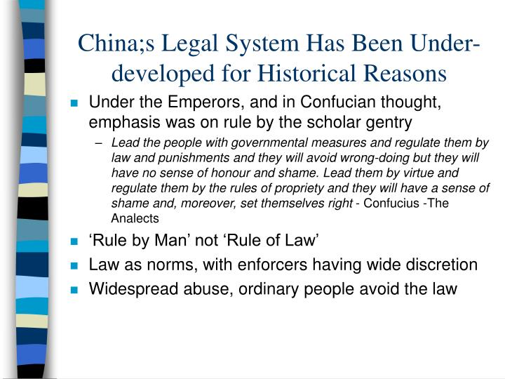 historical development of legal system