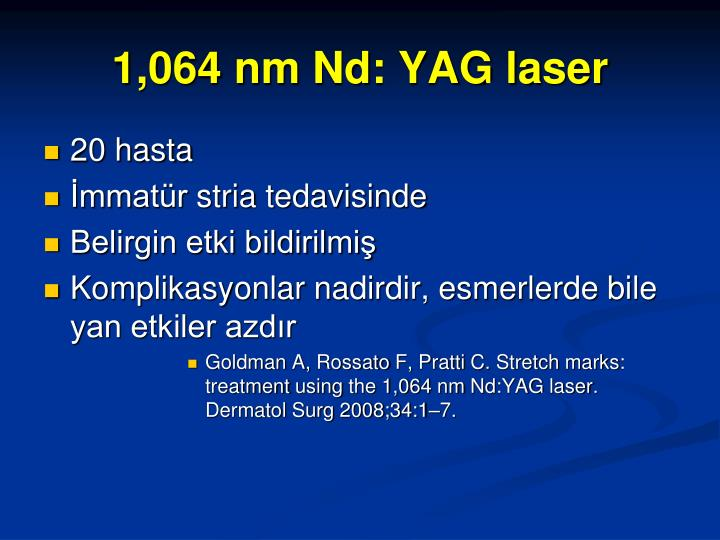 1,064 nm Nd: YAG laser