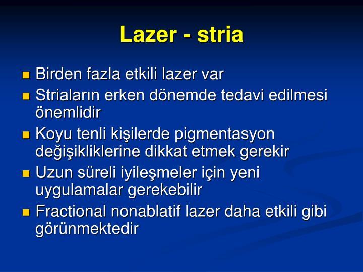 Lazer - stria