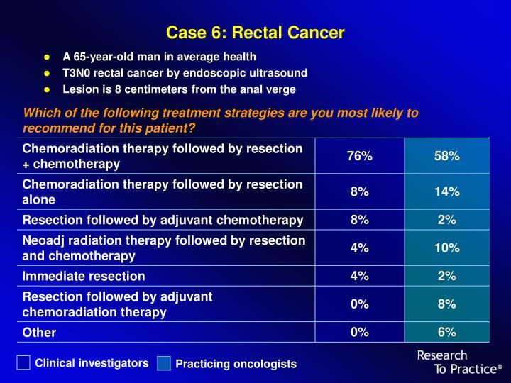 Case 6: Rectal Cancer