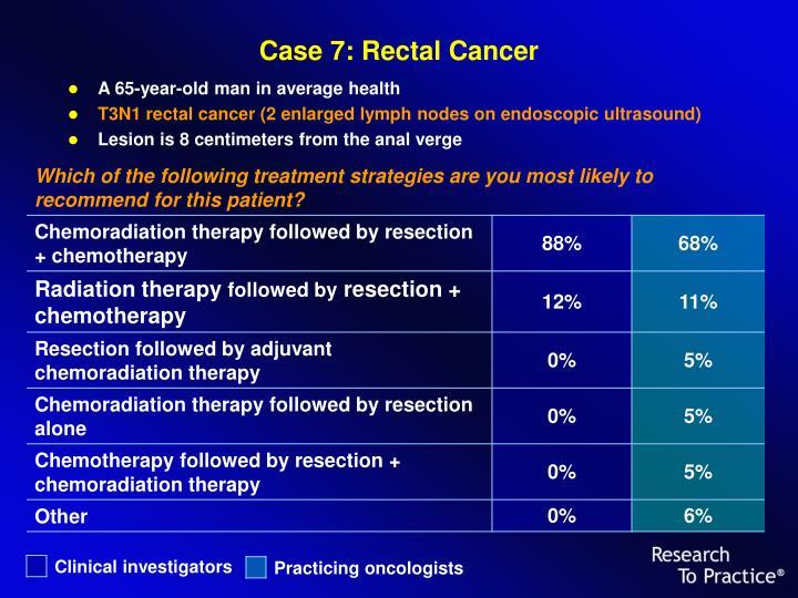 Case 7: Rectal Cancer