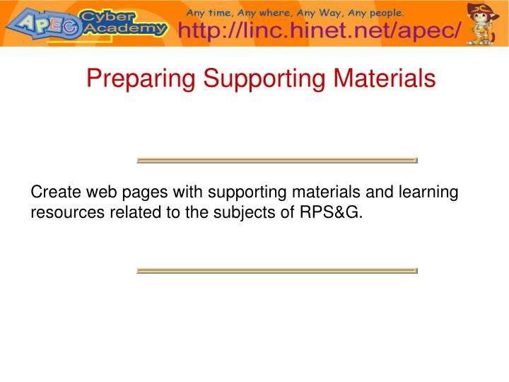 Preparing Supporting Materials