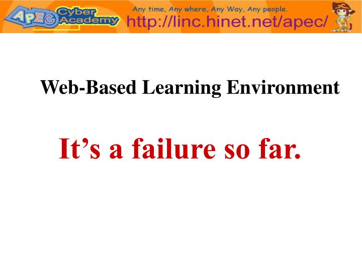 Web-Based Learning Environment
