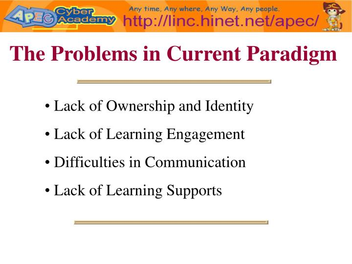 The Problems in Current Paradigm