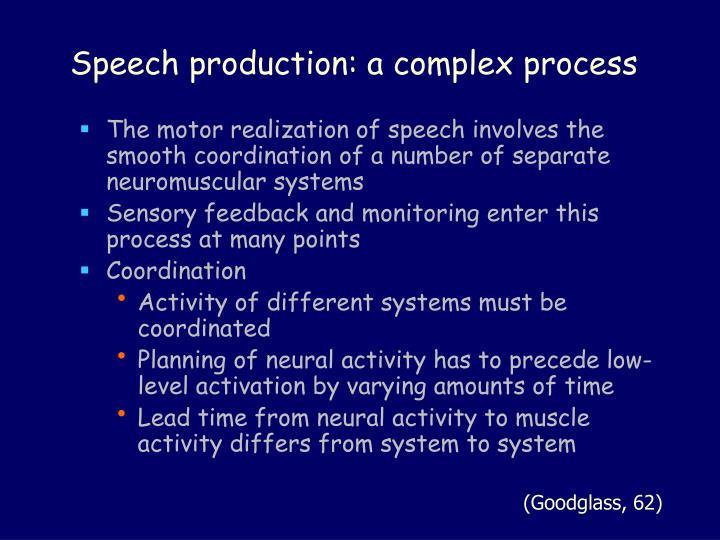 Speech production: a complex process