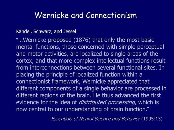 Wernicke and Connectionism