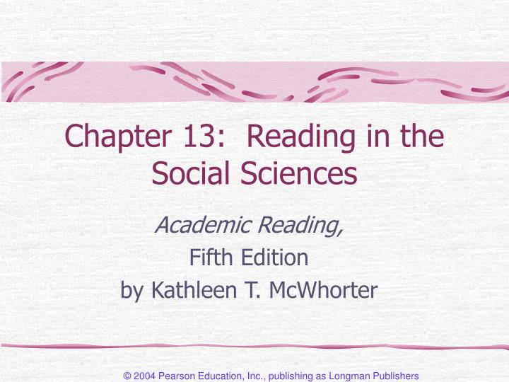 chapter 13 reading in the social sciences n.