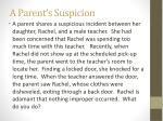 a parent s suspicion
