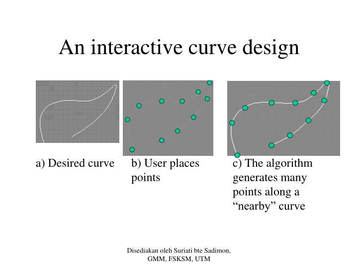 An interactive curve design