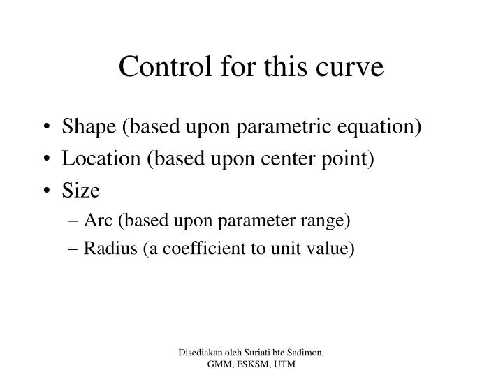 Control for this curve