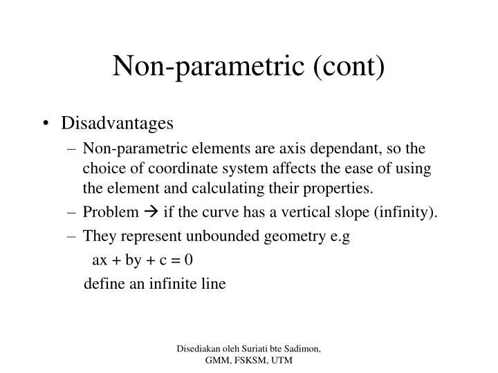 Non-parametric (cont)