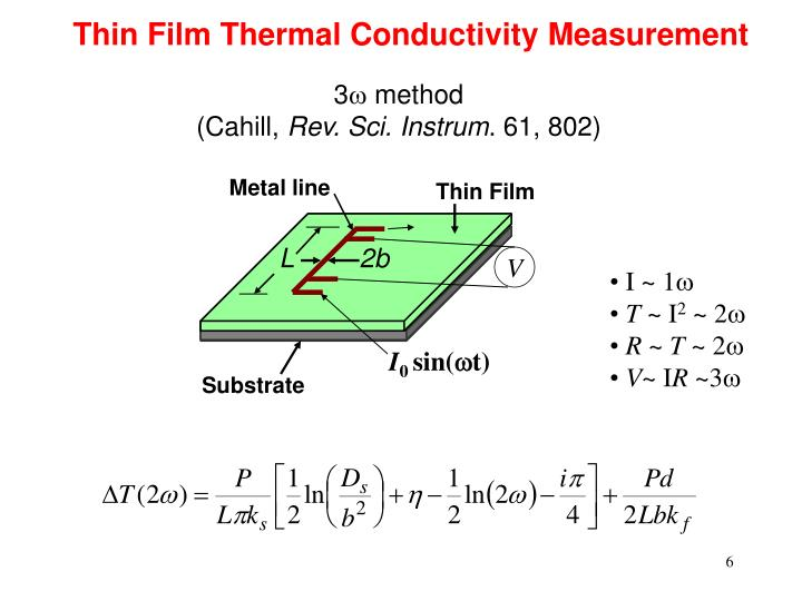 Thermal Conductivity Conversion