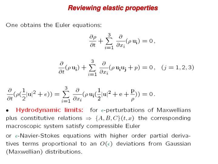 Reviewing elastic properties