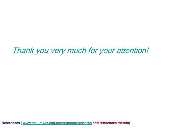 Thank you very much for your attention!