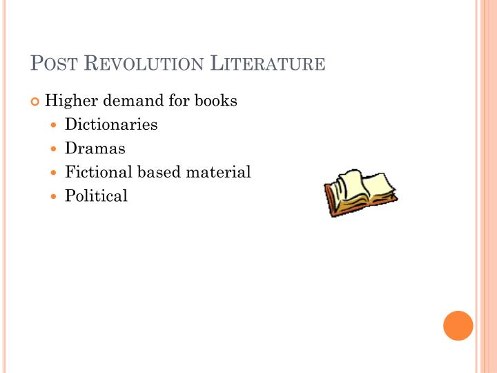 Post Revolution Literature