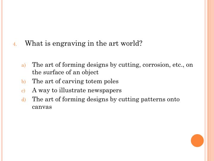 What is engraving in the art world?