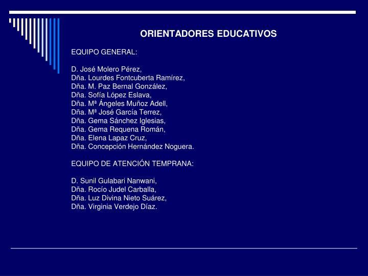ORIENTADORES EDUCATIVOS