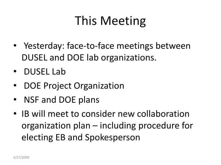This Meeting
