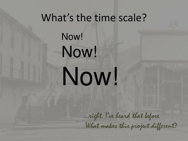 What's the time scale?