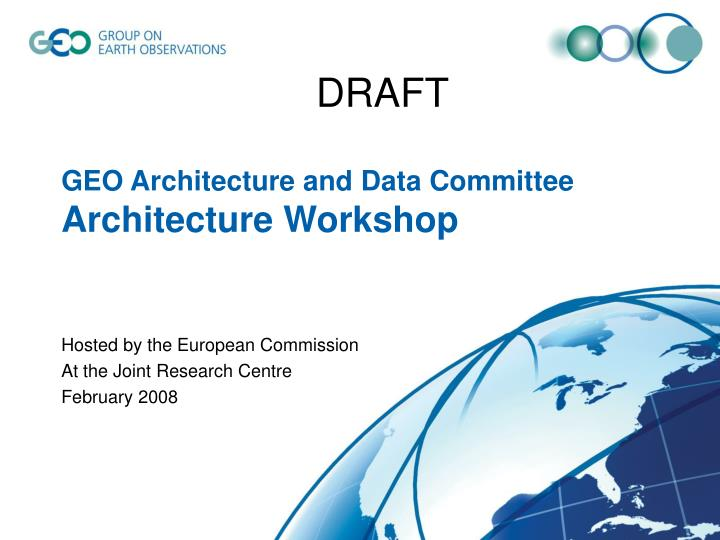 geo architecture and data committee architecture workshop n.
