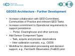 geoss architecture further development