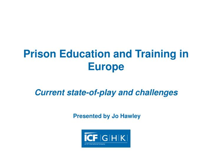 prison education and training in europe n.