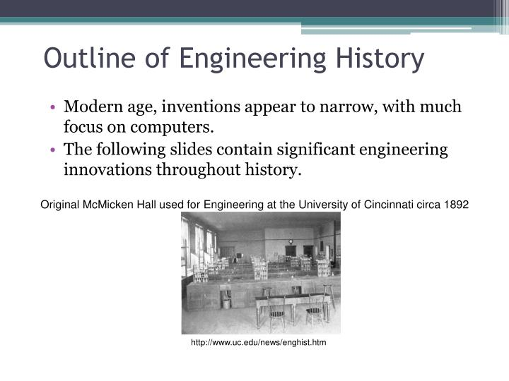 Outline of Engineering History