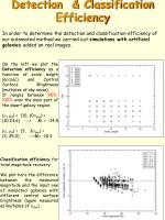 detection classification efficiency
