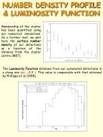 number density profile luminosity function