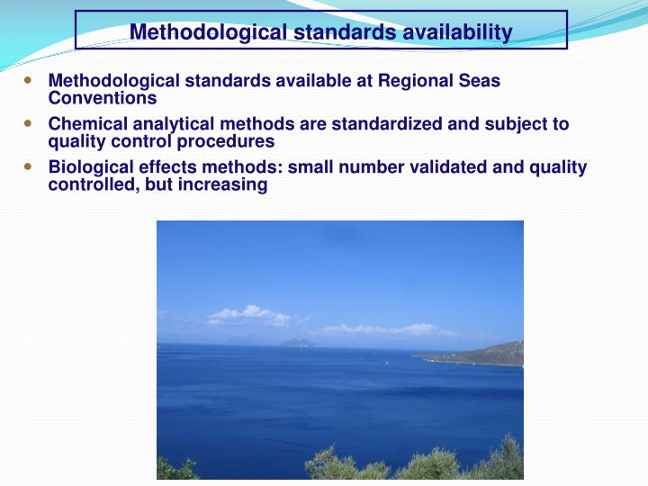 Methodological standards availability