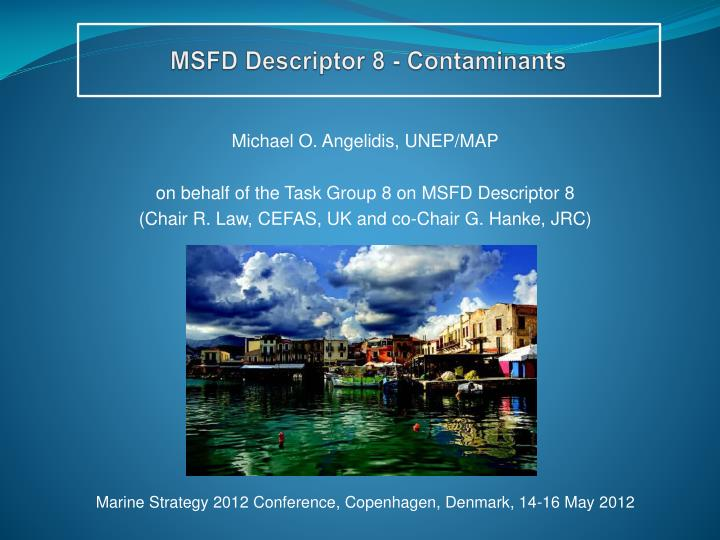 Msfd descriptor 8 contaminants