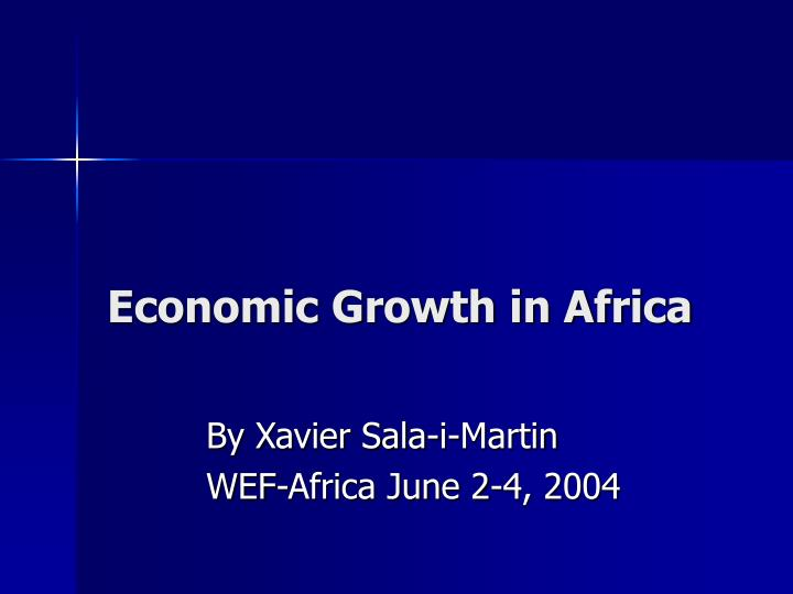 economic growth in africa n.