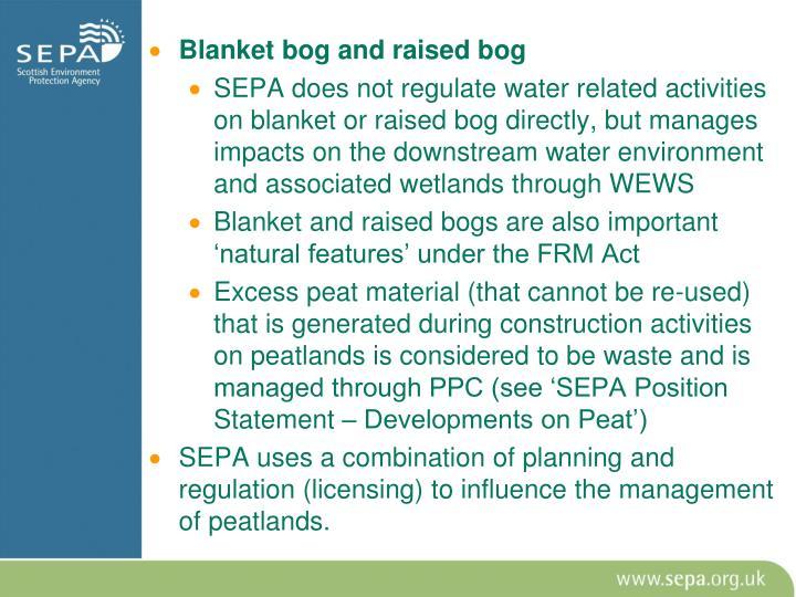 Blanket bog and raised bog
