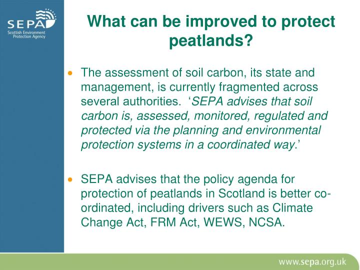 What can be improved to protect peatlands?